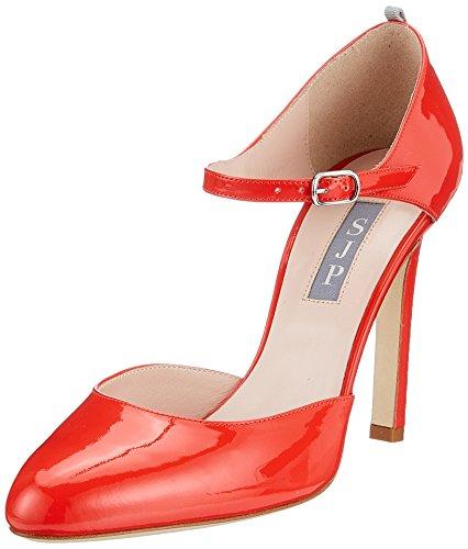 con Campbell Rojo by Tobillo Cot SJP Sarah Jessica para Zapatos Mujer Patent Tacon y Parker Correa de Red ARwYSqYx