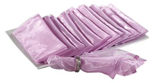 Sorbet Collection (SARO LIFESTYLE 1002 Sorbet Collection Lilac Polyester Organza Dinner Napkin - Soldper 12)