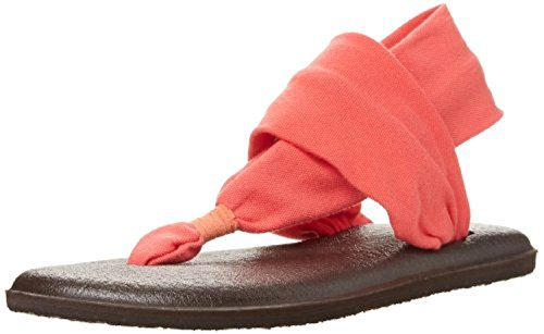 2 9 Shoe Oxy Women's Sanuk Bundle Sling amp; Sandals Cleaner Coral Yoga t4ZUwqB