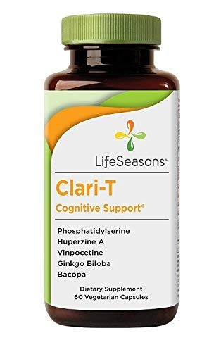 Clari-T - Brain Booster Supplement - Aids in Memory and Focus with Clarity Enhancement- Containing Ginkgo Biloba and Bacopa - LifeSeasons (60 Capsules)