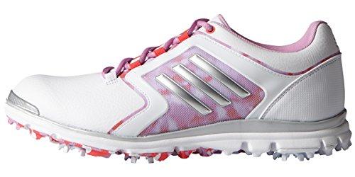 adidas Women's adistar Tour 6-spike Golf Shoe, Ftwr White/Matte Silver/Wild Orchid-tmag - 10 B(M) US by adidas