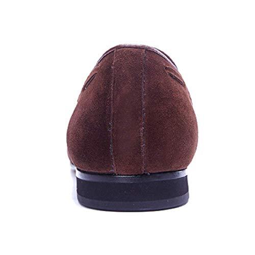 Cucire Inglese Mocassini Stile Casual Scarpe Pigri Mano A Fashion Fatti Confortevoli da Brown Nappe 5q0qxfTn