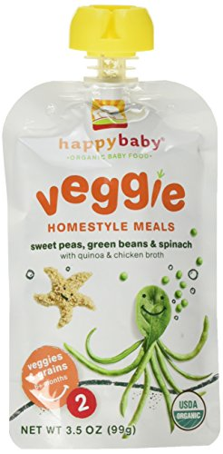 Happy Baby Homestyle Meals, Sweet Peas, Green Beans & Spinach (8)