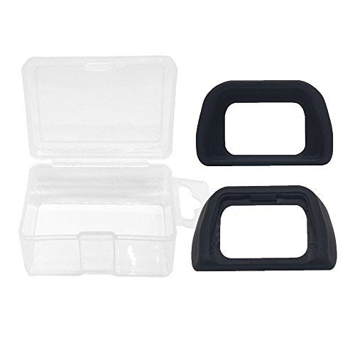 Alliebe Eyecup Eyepiece Viewfinder for Sony Alpha A6000 A7000 NEX-5 NEX-6 NEX-7 DSLR Camera Replaces Sony FDA-EP10 (2 Pack) with Alliebe Mini Storage Case