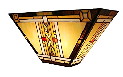 Fine Art Lighting Tiffany Wall Sconce, 16 by 7.5 by E5-Inch, 131 Glass Cuts