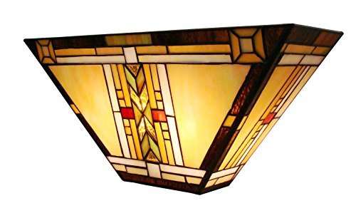 Fine Art Lighting Tiffany Wall Sconce - 16 by 7.5 by E5-Inch - 131 Glass Cuts
