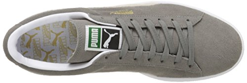 PUMA Adult Wildleder Klassischer Schuh Kirchturm Grau / Weiß