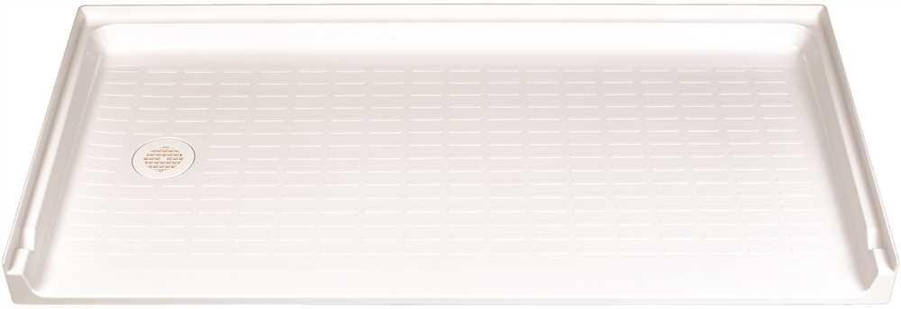 Left Hand Drain Location El Mustee 360L Caregiver Fiberglass Rectangular Barrier-Free Shower Floor 30 X 60 60.2 x 30.7 x 4.7 White