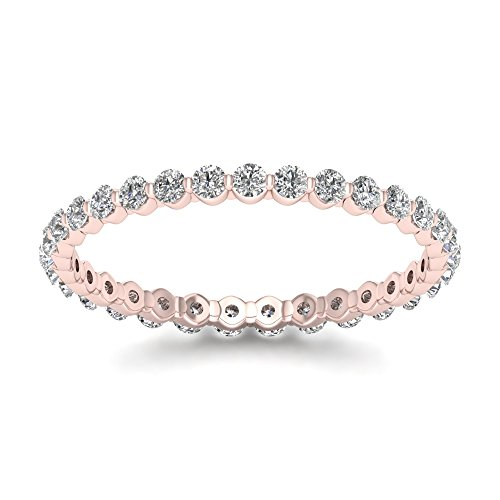 (De Couer 14k Rose Gold 1/2ct TDW Diamond Eternity Wedding Band (HI-I2))