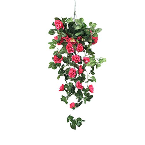 - Other-sey Artificial Flower Gotian Simulation Fake Flower Rose Artificial Flowers Silk Flower Vine Wall Hanging Flower Crepe Orchid Hanging Basket Flower Living Room