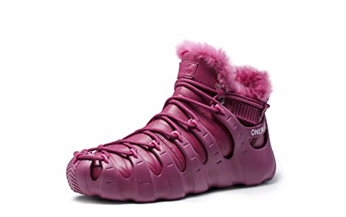 Shoes Red Boots of High Roman Three ONEMIX Women's Ways Winter Wine Fur Lined Sneakers Wearing Ankle ZTzHq