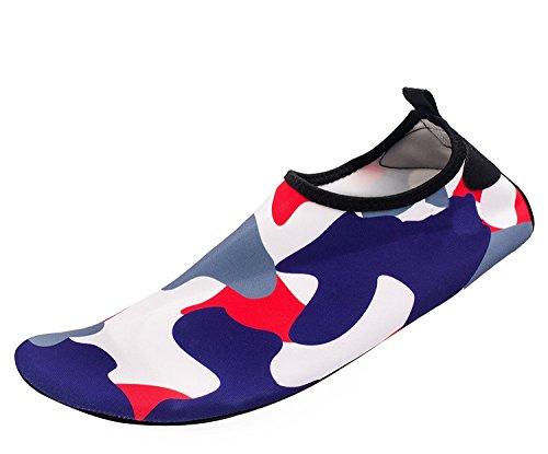 Himal Wasserschuhe Für Frauen Männer Wasser Socken Wasserdichte Aqua Socken Schwimmen Schuhe Für Beach Volleyball Sport Übung Schuhe Aktive Schuhe Erwachsene F1 Camouflage-lila