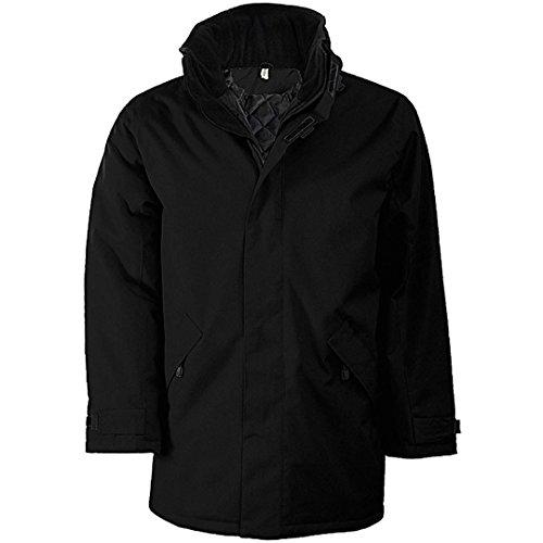 Hombre Padded Chaqueta Parka para Black Black Jacket Kariban 7UCqw6a6