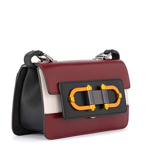 FURLA BQZ7 for Womens Crossbody BELLARIA Black White Bag Maroon ppnrqgwz