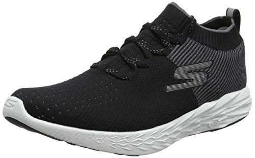 Skechers Men's Go Run 6 Black/White Running Shoe 9 Men US