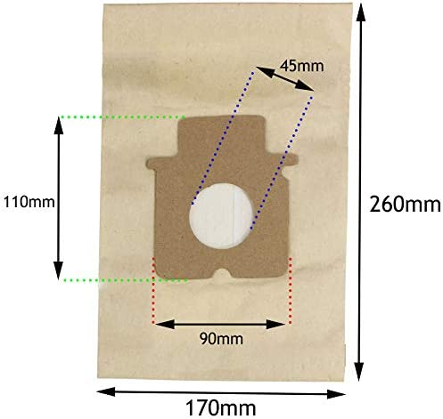 Spares2go Hoover Bags for Panasonic Vacuum Cleaner (Pack of 10)