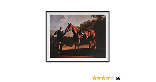 CUSTOM Tony Soprano as Napoleon and Pie-O-My racing horse painting Sopranos Canvas and Framed Poster man gift Sopranos wall art painting