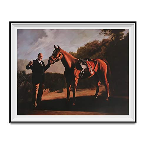 My Party Shirt Tony Soprano And Pie-O-My Horse Painting Poster The Sopranos Race 18