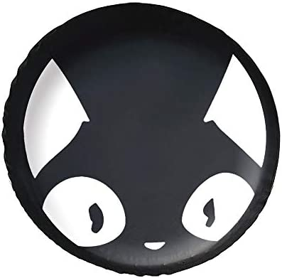 おもしろ猫顔 Cat タイヤカバー タイヤ保管カバー 収納 防水 雨よけカバー 普通車・ミニバン用 防塵 保管 保存 日焼け止め 径83cm
