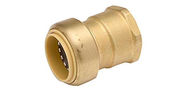 X-Large Brass Copper 3//8 Push Fitting Zurn QQZBC22G Z-Bite Coupling