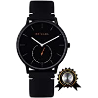 Swiss Watches for Men Women, Fashion Minimalist Quartz Watch for Men Women, Great Gift for Someone or Yourself (1- Black)