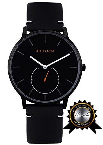 BRIGADA Swiss Watches for Men Women, Fashion Minimalist Quartz Watch for Men Women, Great Gift for Someone or Yourself