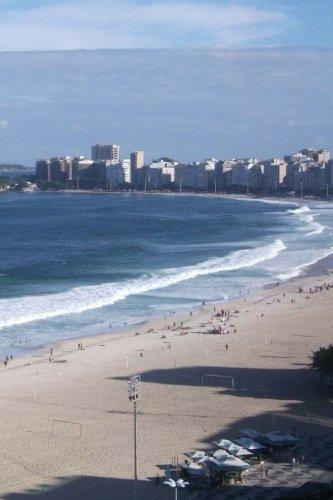 Copacabana Beach Rio De Janeiro Brazil: Notebook
