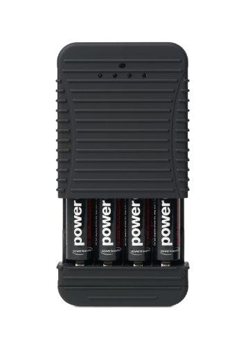 Powertraveller Powerchimp 4AA y AAA Cargador de batería, Negro