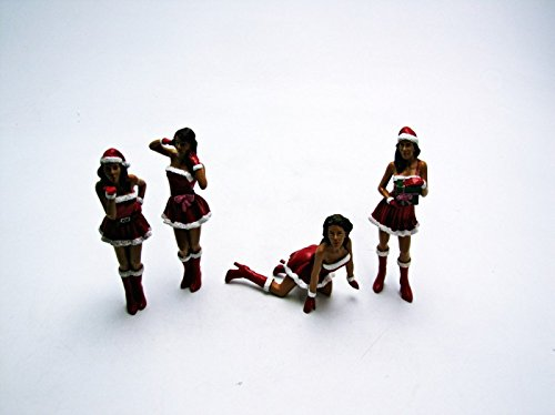 """Set of 4 Figures: """"Christmas Girls"""" 1:18 Scale, Special for sale  Delivered anywhere in USA"""