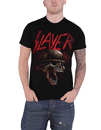 Slayer T Shirt Hellmitt Distressed Band Logo Official Mens Black - Slayer T-shirts Band