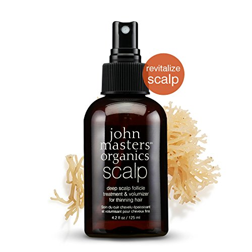 John Masters Organics - Deep Scalp Follicle Treatment & Volumizer for Thinning Hair - Root Strengthening Serum - 4.2 oz