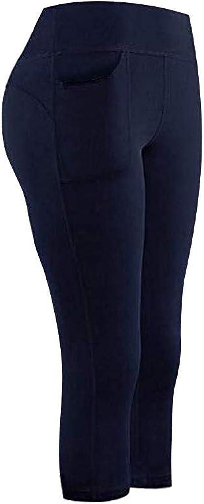 TianMeng Damen Sport Leggins Hohe Taille Tights 3//4 Yogahose Blickdichte Kurz Laufhos Fitness Hosen Jogginghose mit Taschen Short Jogginghose Yoga Sport Fitness Laufen