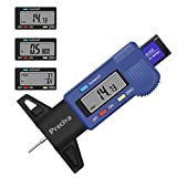 Tire Tread Depth Gauge, Preciva Digital Tire Gauge Meter Tester with Large LCD Screen of F/mm/inch Conversion for Cars Trucks and SUV (Updated one)