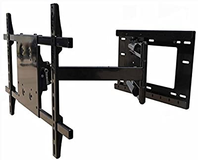 !!Wall Mount World!! Full Motion Articulating TV Wall Mount Bracket for most 37-65 inch Samsung, Vizio, LG, Sony displays - 40 inch extension, 90 degree swivel left/right