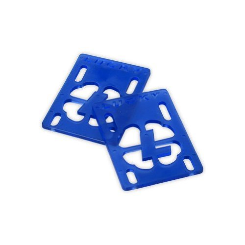 LUCKY RISERS Skateboard Shock Riser Pads 4mm BLUE