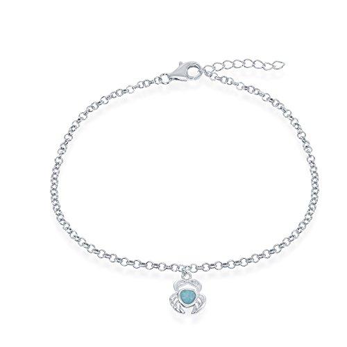 (Beaux Bijoux Sterling Silver Italian Nautical Larimar Crab 9