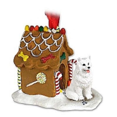 Conversation Concepts American Eskimo Ginger Bread House Christmas ()