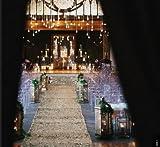 Wedding Carpet Aisle Runner-Matt Gold-4FTx75FT Sequin Aisles Floor Runner