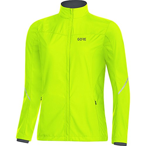 GORE WEAR Women's R3 Partial Windstopper Jacket, Neon Yellow, Small by GORE WEAR (Image #1)
