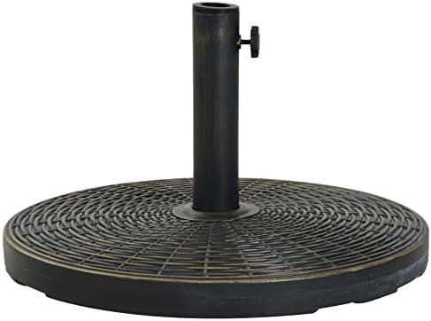 Outsunny Base de Sombrilla Ajustable Φ53x30cm Universal Pie de Parasol de Cemento Soporte de Sombrilla Redondo Estilo Retro HDPE Patio Jardín Playa: Amazon.es: Jardín