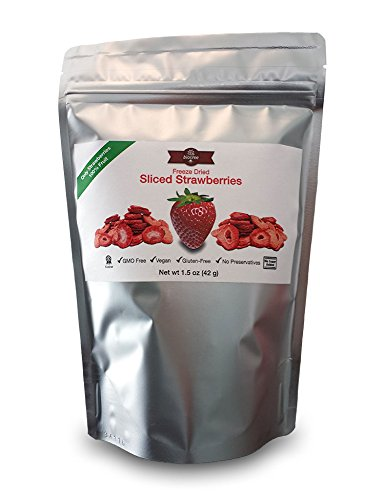 Delicious Strawberry Snack - All Natural Freeze Dried Sliced Strawberries: 100% Fruit with No Added Sugar, No Preservatives. Vegan, GMO Free, Kosher, Gluten-Free,Paleo, Delicious and Healthy Snack for Children and Adults, Tastes Great, Add to Smoothies, O by BioTree Naturals (Image #3)