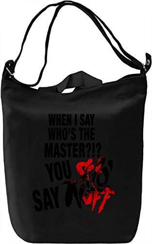 You Say Sho Nuff Borsa Giornaliera Canvas Canvas Day Bag| 100% Premium Cotton Canvas| DTG Printing|