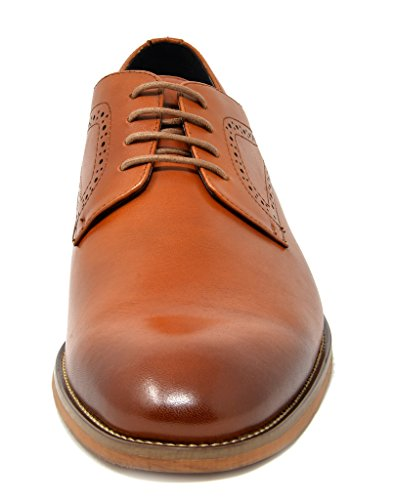 Marc 2 brown Leather Dress Waltz Shoes Italian Collection Oxfords Men's Genuine Bruno 7xwqvd11T