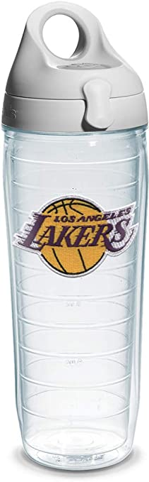 Tervis NBA Los Angeles Lakers Insulated Tumbler with Wrap and Royal Purple Lid Clear 24oz