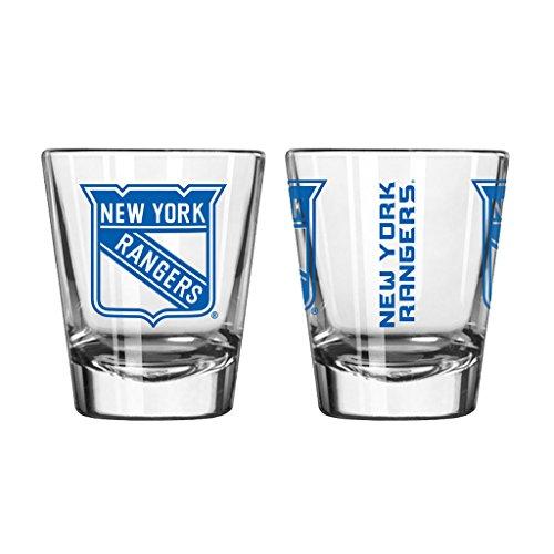 - Official Fan Shop Authentic NHL Logo 2 oz Shot Glasses (New York Rangers)
