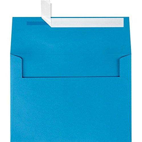 A4 Invitation Envelopes w/Peel & Press (4 1/4 x 6 1/4) - Pool Blue (50 Qty.)