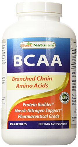 Best Naturals Pharmaceutical Grade BCAA 3200mg per serving, 400 Casules