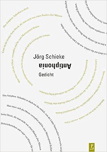 Antiphonia Gedicht Amazoncouk Jörg Schieke Jan