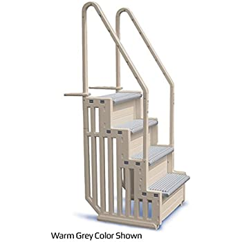 Marvelous Confer Staircase Style Above Ground Pool Steps Warm Grey   STEP 1 X