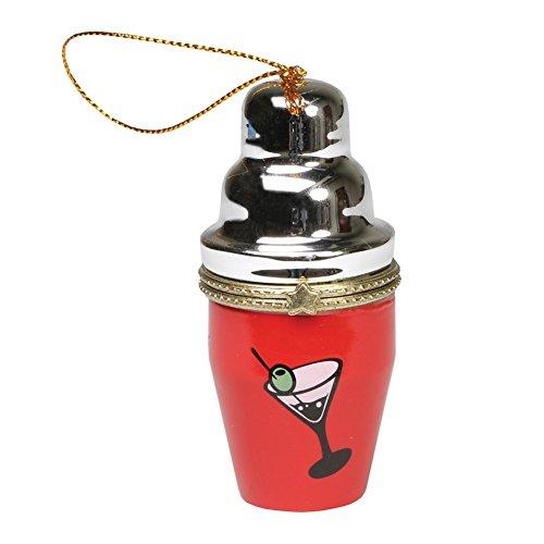 Bandwagon Christmas Decoration - Porcelain Surprise Ornaments Box - Cocktail Shaker